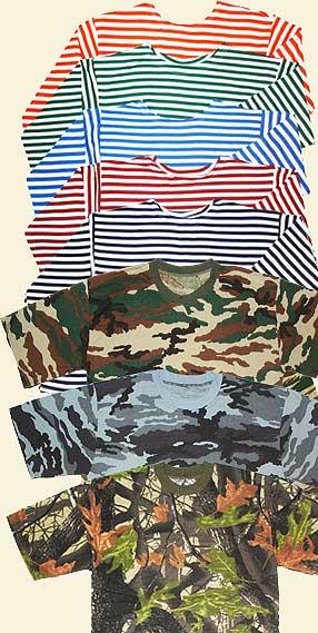 ТИТАН-Р предлагает широкий ассортимент тельняшек, маек и футболок камуфлированных, прочего специального трикотажа